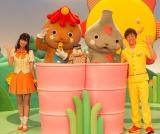 (左から)なおおねえさん、シュッシュ、パンタン駅長、ポッポ、せいやおにいさん (C)ORICON DD inc.