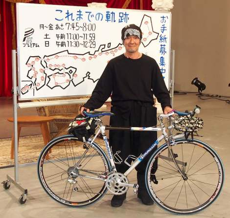 NHKでBSプレミアム『にっぽん縦断 こころ旅2013』特番の会見に出席した火野正平 (C)ORICON DD inc.
