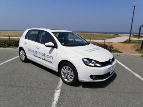 国内未発売の電気自動車『Golf blue-e-motion』