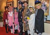 左から長谷川愛、冨田麻帆、石田晴香(AKB48)、加藤和樹、岸祐二、市川美織(AKB48)、鳥越裕貴 (C)ORICON DD inc.