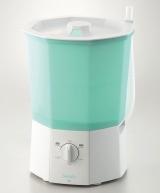 キングジムが15日に発売する、小型サイズの洗濯機『スォッシュ』(税込1万4700円)