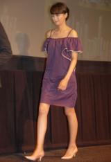 大胆なドレスで登場した榮倉奈々=映画『図書館戦争』の完成披露記者会見 (C)ORICON DD inc.