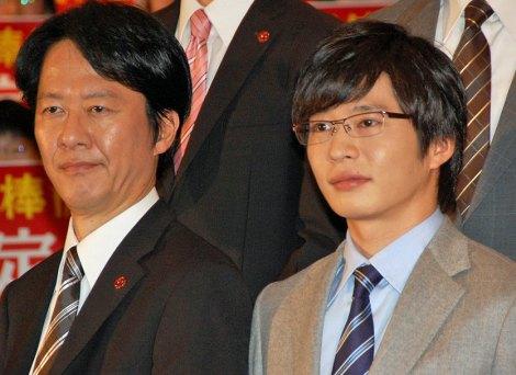 『相棒シリーズ X DAY』初日舞台あいさつに登場した(左より)川原和久、田中圭 (C)ORICON DD inc.