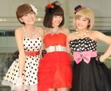デビューシングル発売イベントに出席したMスリー(左から)林田真尋、下村実生、藤田みりあ