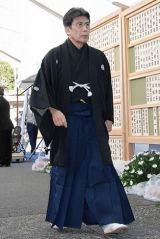 歌舞伎俳優の中村勘三郎さんの本葬に参列した松本幸四郎 (C)ORICON DD inc.