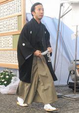歌舞伎俳優の中村勘三郎さんの本葬に参列した市川猿之助 (C)ORICON DD inc.