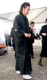歌舞伎俳優の中村勘三郎さんの本葬に参列した中村獅童 (C)ORICON DD inc.