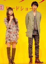 映画『きいろいゾウ』プレミアイベントに出席した(左から)宮崎あおい、向井理 (C)ORICON DD inc.