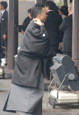 歌舞伎俳優・市川團十郎さんの本葬に参列した市川猿之助 (C)ORICON DD inc.