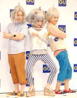 ジーユーのイメージキャラクターとなった(左から)又吉直樹、きゃりーぱみゅぱみゅ、綾部祐二 (C)ORICON DD inc.