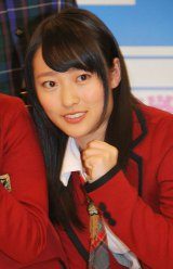 日本テレビ開局60年特別番組『ワラチャン!〜U-20お笑い日本一決定戦〜』の応援サポーターに起用されたNMB48・小谷里歩 (C)ORICON DD inc.