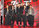 前列左からKENZO(DA PUMP)、柳楽優弥、東出昌大、勝地涼、ELLY(三代目 J Soul Brothers)、永山絢斗、やべきょうすけ、早乙女太一、岩田剛典(三代目 J Soul Brothers) 。(C)De-View