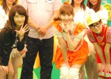 AKB48・Bチームのメンバー(左から)柏木由紀、小嶋陽菜、島崎遥香 (C)ORICON NewS inc.
