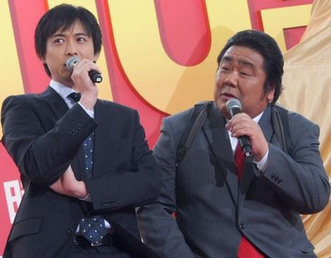 ドラマ『刑事110キロ』制作発表記者会見に出席した(左から)中村俊介と石塚英彦 (C)ORICON NewS inc.
