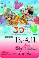 ディズニーリゾートラインの期間限定デザインフリーきっぷ【第1期】/(C)Disney