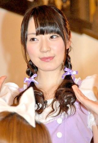 ひかりTVの番組『AKB48のガチチャレ』の特別企画『AKB48の晩餐会』の収録を行った松井咲子 (C)ORICON DD inc.