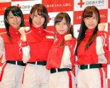 AKB48(左から)中村麻里子、藤江れいな、大場美奈、小嶋菜月 (C)ORICON DD inc.