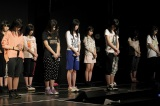 HKT48劇場ではリハーサル中の午後2時46分に黙とう (C)AKS