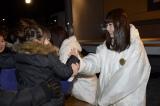被災地を訪問したAKB48=宮城県女川町(写真は島崎遥香) (C)AKS
