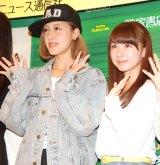 (左から)夏焼雅、石田亜佑美 (C)ORICON NewS inc.