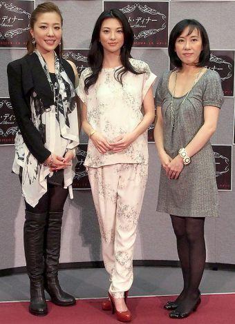 NHKドラマ『ラスト・ディナー』の完成試写会に出席した(左から)平原綾香、田中麗奈、大森美香 (C)ORICON DD inc.