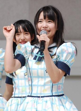 HKT48単独初の全国握手会イベントに登場した渕上舞(16) (C)ORICON DD inc.