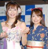 『クラウン歌謡ライブ』のプレイベントに出席した(左から)瀬口侑希、桜井くみ子 (C)ORICON NewS inc.