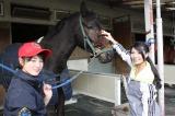 JRA競馬学校の新入生たちをAKB48の倉持明日香が取材。4年ぶりの女子生徒に1日密着!!(C)BS朝日