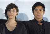 映画『藁の楯』プレミア試写会に出席した(左から)松嶋菜々子、大沢たかお (C)ORICON NewS inc.