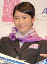ANA×AKB48共同プロジェクト発表会に出席した横山由依 (C)ORICON NewS inc.