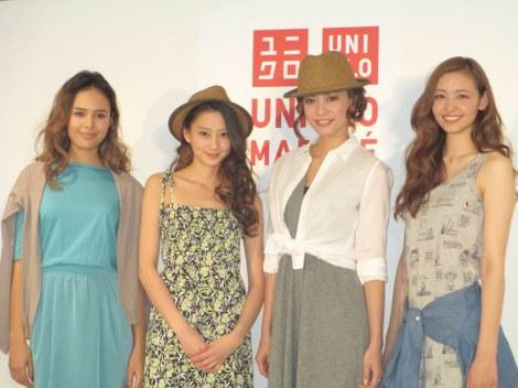 サムネイル イベントに登場した(左から)大屋夏南、河北麻友子、菅原沙樹、ニコル