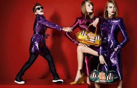サムネイル バーバリー2013年春夏コレクション広告キャンペーンに起用されたロメオ・ベッカム(左)