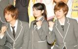 舞台『タンブリングvol.4』制作発表記者会見に出席した(左から)佐香智久、森田涼花、安川純平 (C)ORICON NewS inc.