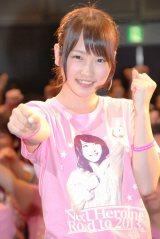 AKB48の新ユニット「BKA48」センター・川栄李奈が総選挙の意気込みを語った (C)ORICON NewS inc.
