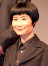 松本人志監督の最新作『R100』製作報告会見に出席した片桐はいり (C)ORICON NewS inc.