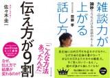 佐々木圭一氏の『伝え方が9割』(左)と齋藤孝氏の『雑談力が上がる話し方 30秒でうちとける会話のルール』の表紙