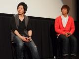 普段、顔を見ることはほとんどないスーツアクターの石井靖見(左)、浅井宏輔(右) (C)ORICON NewS inc.