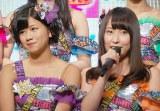 BSスカパー!『IDOL REVUE presents NMB48 特番 こんな番組やらせてもらっていいんですかっ!?』公開収録に出席したNMB48チームM(左から)谷川愛梨と島田玲奈 (C)ORICON NewS inc.