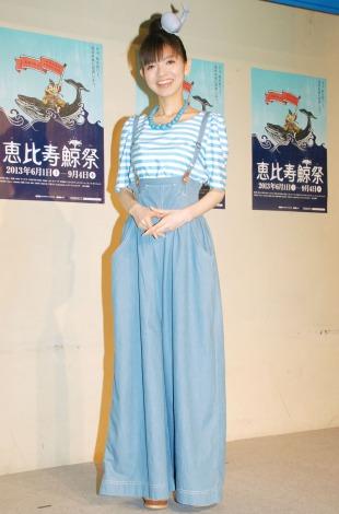『恵比寿鯨祭』の記者発表会に出席した園山真希絵 (C)ORICON NewS inc.