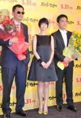 (左から)ウォン・カーウァイ、真木よう子、トニー・レオン (C)ORICON NewS inc.