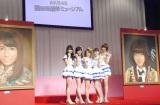 「AKB48選抜総選挙ミュージアム」のオープニングセレモニーに出席した(左から)横山由依、渡辺麻友、高橋みなみ、大島優子、篠田麻里子 (C)ORICON NewS inc.