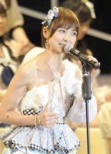 『第5回AKB48選抜総選挙』で涙ながらにAKB48卒業を発表した篠田麻里子 (撮影:鈴木かずなり) (C)ORICON NewS inc.