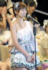 AKB48選抜総選挙で卒業発表した篠田麻里子 撮影:鈴木かずなり (C)ORICON NewS inc.