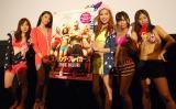 映画『スプリング・ブレイカーズ』公開直前トークイベントに出席した(左から)サムギョプサル和田、秋元才加(AKB48)、ルーキタエ、めんそ〜れ愛菜、たまたまこ (C)ORICON NewS inc.