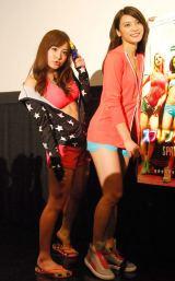 映画『スプリング・ブレイカーズ』公開直前トークイベントに出席した(左から)サムギョプサル和田(あやまんJAPAN)と秋元才加(AKB48) (C)ORICON NewS inc.
