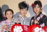 映画『絶叫学級』の初日舞台あいさつに出席した(左から)松岡茉優、川口春奈、広瀬アリス (C)ORICON NewS inc.