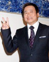 再婚会見でデレデレのラサール石井 (C)ORICON DD inc.