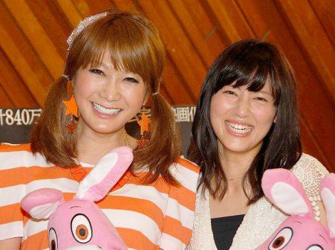 映画『サイレントヒル:リノベーション3D』公開アフレコに出席した(左から)はるな愛と福田彩乃 (C)ORICON NewS inc.