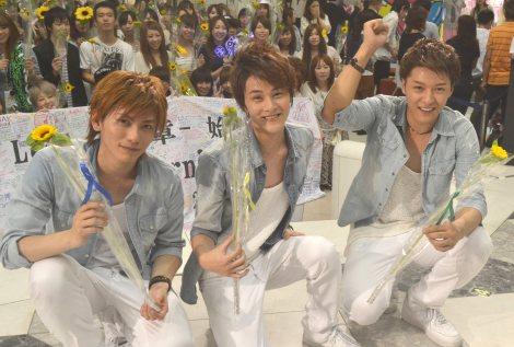 新曲発売イベントを行ったLead (左から)鍵本輝、古屋敬多、谷内伸也 (C)ORICON NewS inc.