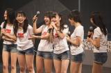 今回のシングルから参加したAKB48兼任の市川美織はうれしさのあまり号泣